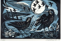 Three Tone Prints / Woodblock prints, linocuts, stamps and some silkscreens that use a limited palette (say, black + white + color). Prints with four, five, or six tones are welcome as long as they retain that bold, colorized B&W feel. / by Stephen Jones