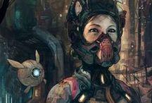 { Art } Sci-Fi & Cyberpunk