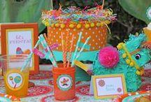 Fiesta party ideas / cinco de mayo, fiesta, margaritas, sombrero, tacos, serape, ole