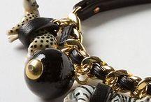 jewelry: button bracelets / an eclectic mix of button bracelets