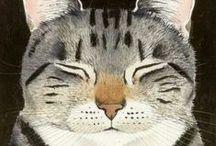 Art . Cats / Artists love cats, they can't resist to draw and paint them.