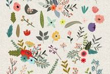 Design . Floral Patterns / Nature stylized