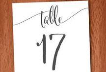 diy: wedding / table numbers, diy, purchase, handmade, weddings, events, label, signage