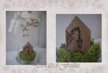 maisonnettes,littles house,casette. / en tissu,crochet ciment,papier,ect....