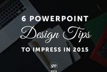 design: presentations / powerpoint, keynote, how to present, best practices