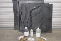 Giant Stones DIY Made at Home / Here are examples of giant rocks and stepping stones used in the garden or patio. Many sizes and styles can be made right on site inexpensively with molds if you don't have any natural stones on your property. Visit www.TheMoldStore.com for examples. / by Olde World Stone & Tile Molds, Inc.