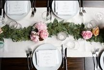 Romantic Restaurant Reception / Rustic-Modern Wedding by Wrap It Up Parties!