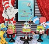 Dr. Seuss party ideas / Dr. Seuss is celebrating another year of Reading Across America! Create a fun celebration around the beloved Dr. Seuss stories!