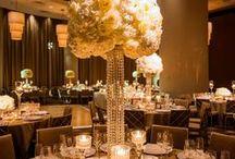 Glamorous White & Gold Hotel Wedding
