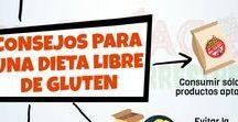 Celiaquía y vida libre de gluten: infografías / En este tablero encontrarán infografías sobre temas referidos a la celiaquía.