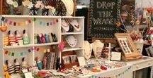 Ideas for jewellery displays for craft fairs and market stalls / Lots of examples and ideas on how to present your jewellery at a craft fair or market.