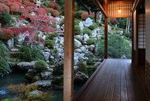 Japanese gardens and Zen / Japanese gardens, Zen gardens, Rest and Harmony.