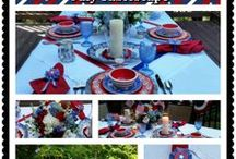 4th of July / 4th of July Ideas and Tablescapes