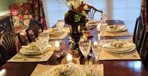 Thanksgiving/Fall Ideas / Decorating, Tablescapes, and recipes