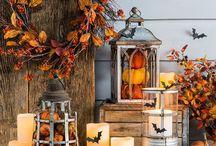 Хэллоуин, осень / Букеты, тыквы, осень, золотая пора