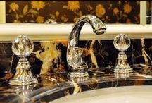 Luxury Bathroom Fittings with Swarovski crystals / Luxury bathroom fittings and accessories. Classical taps, elegant faucets and exclusive accessories handcraft made with pure brass and Swarovski crystal.