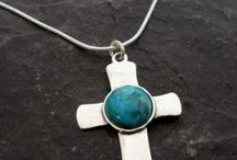December's Birthstone~Blue Topaz and Turquoise