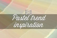 Pastels trend inspiration / 2014 trend captured by Daniel Corbin, pastels go so well with any shades of gray!