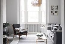 Creating Space / Inspiration for creating the feeling of space in a small room or home.