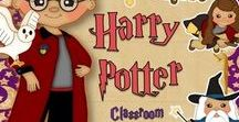 Harry Potter Classroom / Classroom decor, study units, learning tools, ideas with a Harry Potter theme
