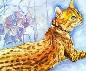 Animals. Pet painting. Animal painting, Cats. Home decor.