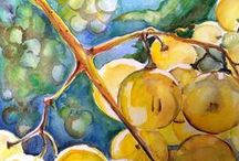 Fruits. Original painting. Home decor / Original oil and watercolor painting.Want to receive exclusive offers and be informed of private sales by Painting by a heart? Sign up here: http://eepurl.com/cG8dtv and you can get 15 % off your first order!