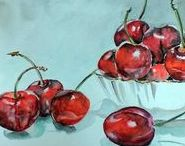 Still life. Original painting. Home decor. / Original oil and watercolor painting. Want to receive exclusive offers and be informed of private sales by Painting by a heart? Sign up here: http://eepurl.com/cG8dtv and you can get 15 % off your first order!