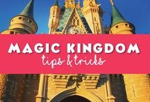 Magic Kingdom / The classic Disney World park the Magic Kingdom. Tips, tricks and touring plans for how to spend your time at the Magic Kingdom. #fantasyland #tomorrowland #frontierland #adventureland and #libertysquare