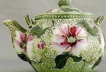 Teapot -květy / zdobení motivy květů