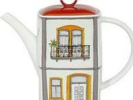 Teapot -Domy / porcelán-