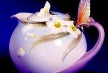 TEAPOT-  Ozdoby plastické / plastické ozdoby -ptáci,květy,motýli