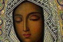 IKONY+madonny / malby ma dřevo,plátno -,kombinace s kameny,šperky, tepaného stříbra,