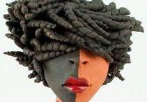 Janneke Bruines /  ceramika Art, figurální keramika-ženy