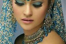 ORIENTAL women / exotické ženy-Afrika,Asie,Indie,Egypt,Kuba,Mexiko,Jižní Amerika extravagance-líčení,moda,účesy