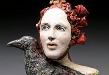 Debra Frits / sochařka,keramička,Neschville,Tennessiee- Art .expresionistické pojetí figury,hlavy, bysty-hlína