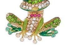 Jewelry FROG / Klenoty - různé druhy materiálů,prsteny,brože,přívěsky