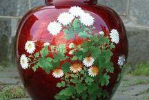 Porcelan JAPAN-vase.... / porcelán váz různých tvarů,materiálů,motivů