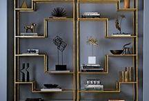Homeishome   Art Deco / ART DECO ➰ een trend uit de jaren '20 en '30 die zijn intrede weer maakt! Gekenmerkt door luxe materialen, rijke kleuren en velours
