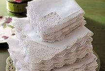 Linens / Many different kinds of linens in all colors.  / by Marilyn Sorensen