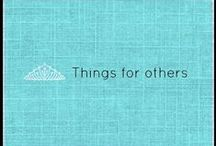 things for others / This is a diverse board filled with great craft and gift ideas for family and friends.  www.facebook.com/YouniquebyBarbW