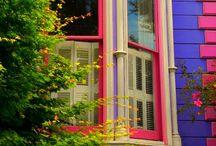 Victorian & Cute Homes / Beautiful 'Painted Ladies' Victorian Homes & Cute, Colorful Homes