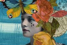 """Collages, Abstract Art, & Art Journaling / """"Art is not what you see, but what you make others see."""" Edward Degas"""