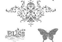 SU! Bliss / Inspirations gathered for use with SU! Bliss stamp set.