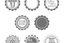 SU! A Round Array / Inspirations gathered for use with SU! A Round Array stamp set.