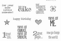 SU! Something To Say / Inspirations gathered for use with SU! Something To Say stamp set.