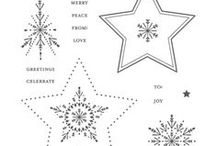 SU! Many Merry Stars / Inspirations gathered for use with SU! Many Merry Stars stamps & framelits bundle.