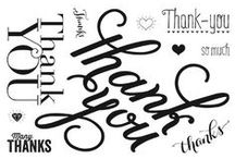 SU! Another Thank You / Inspirations gathered for use with SU! Another Thank You stamp set.