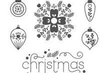 SU! Cheerful Christmas / Inspirations gathered for use with SU! Cheerful Christmas stamp set.