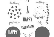 SU! Celebrate Today / Inspirations gathered for use with SU! Celebrate Today stamp set.
