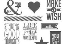 SU! Perfect Pennants / Inspirations gathered for use with SU! Perfect Pennants stamp set.
